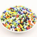 Beads, Seed beads, Glass, Assorted colours, Disc shape, Diameter 4mm, 25g, 300 Beads, (SSZ129)